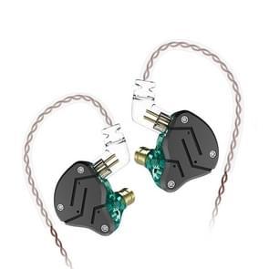KZ ZSN Circle Iron Moving Iron Quad-core Wired Control In-ear Mega Bass HiFi oortelefoon zonder microfoon (Cyaan)