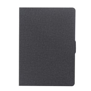 Voor iPad Air / iPad Air 2 / iPad Pro 9.7 / iPad 9 7 (2018) & iPad 9 7 (2017) doek textuur horizontale Flip leren Case met houder & slaap / Wake-up Function(Black)