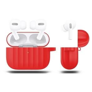 Voor AirPods Pro Siliconen draadloze oortelefoon beschermdoos (rood)