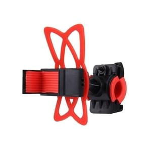 360 Degree Rotation Bicycle Phone Holder with Flexible Stretching Clip for iPhone 7 & 7 Plus / iPhone 6 & 6 Plus / iPhone 5 & 5C & 5s(Red)