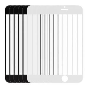 5 stuks zwart + 5 pc's wit voor iPhone 6 Plus Lens van het glas van de Outer Front scherm