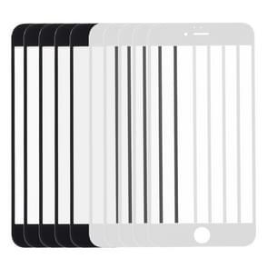 5 stuks Black + 5 stuks wit voor iPhone 6s & 6 Front scherm Outer glazen Lens
