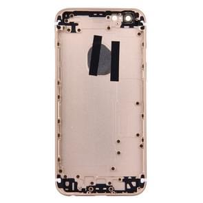 5 in 1 voor iPhone 6s (backcover + kaarthouder Volume Control-toets + Power knop + Mute Switch Vibrator-toets) volledige vergadering huisvesting Cover(Gold)