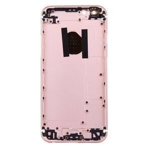 5 in 1 voor iPhone 6s (backcover + kaarthouder Volume Control-toets + Power knop + Mute Switch Vibrator-toets) volledige vergadering huisvesting Cover(Rose Gold)
