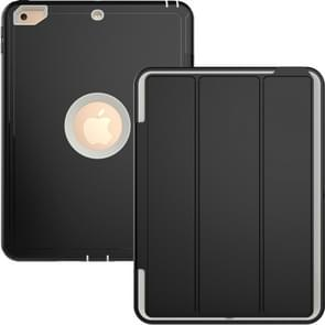 Voor iPad 9 7 (2018) & iPad 9 7 (2017) 3-voudig magnetische beschermhoes met Smart Cover Auto-slaap & Awake Function(Grey)