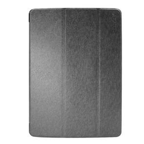 iPad 2017 horizontaal Zijde structuur PU leren + kunststof onderzijde ENKAY Flip Hoesje met houder & slaap / ontwaak functie (zwart)