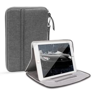 Tablet PC Universal Hand-held Shockproof Inner Pouch Bag Protective Cover for iPad 9.7 inch / Air 3 / Mini 4 / 3 / 2 / 1  with Holder (Grey)