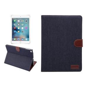 Voor nieuwe iPad 9.7 Inch iPad air (IPAD5) & IPAD air2 (IPAD6) universele Denim doek textuur oppervlak horizontale Flip leren beschermhoes met houder & Card Slots & portemonnee & Sleep(Black)