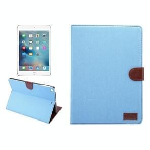Voor nieuwe iPad 9.7 Inch iPad air (IPAD5) & IPAD air2 (IPAD6) universele Denim doek textuur oppervlak horizontale Flip leren beschermhoes met houder & Card Slots & portemonnee & Sleep(Baby Blue)