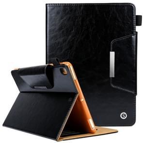 Crazy Horse textuur horizontale Flip Case voor iPad 9 7 (2018) & iPad 9.7 inch (2017)  met houder & Card Slots(Black)