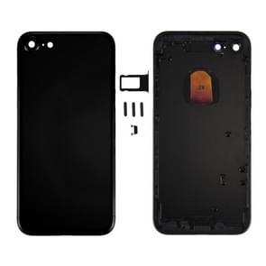 6 in 1 voor iPhone 7 (backcover + kaarthouder Volume Control-toets + Power knop + Mute Switch Vibrator-toets + teken) volledige vergadering huisvesting dekken (StraalZwarte)