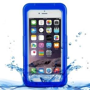 iPhone 7 schokbestendig IPX8 waterdicht en stofdicht Siliconen + TPU Hoesje met draagriem (donker blauw)