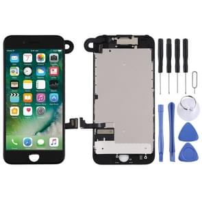 LCD-scherm en Digitizer Full Assembly zijn voorzien van frontcamera voor iPhone 7 (Zwart)