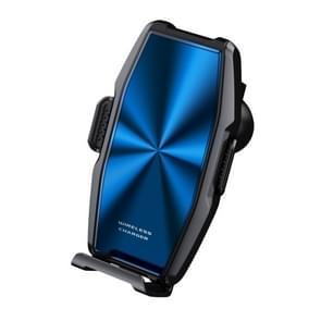S9 15W Max Fast Charge Automatic Clamping Arm Car Mount (Blauw)