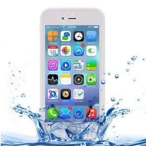 iPhone 7 & 8 geheel omhullend Diamant patroon waterbestendig TPU + Kunststof Hoesje Wit