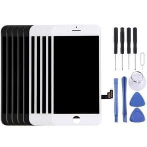 5st zwart + 5 stuks wit LCD-scherm en Digitizer plenaire vergadering voor de iPhone 7 (5 zwart + 5 wit)