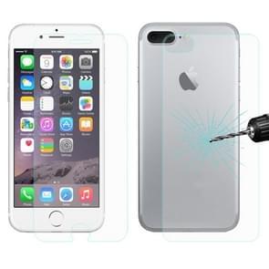 ENKAY voor iPhone 8 Plus & iPhone 7 Plus Hat-Prins 0 26 mm 9 H + oppervlaktehardheid 2.5D explosieveilige gehard glazen voorkant + achterkant Film