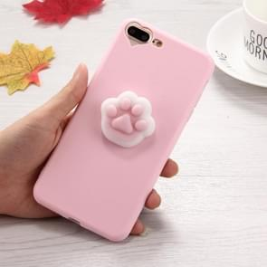 Voor iPhone 8 & 7 Plus 3D Paw Print patroon Squeeze Relief Squishy Dropproof beschermende back cover Case