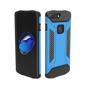 Voor iPhone 8 Plus & 7 Plus TPU + PC Steel Armor combinatie Case (blauw)