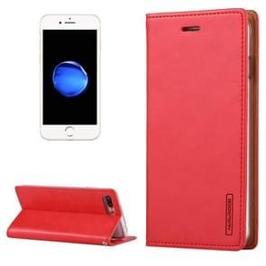 MERCURY GOOSPERY BLUE MOON voor iPhone 8 Plus & 7 Plus Crazy Horse textuur horizontale Flip lederen draagtas met Card Slots & portemonnee & Holder(Red)