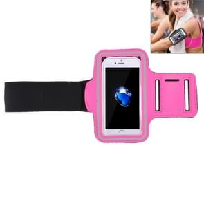 Voor iPhone 8 Plus & 7 Plus Sport Armband Case met sleutel Pocket(Magenta)