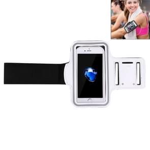 Voor iPhone 8 Plus & 7 Plus Sport Armband Case met sleutel Pocket(White)
