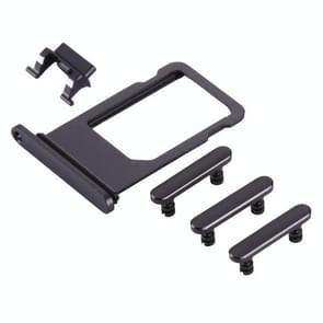 Kaart lade + Volume Control-toets + Power knop Mute Switch Vibrator-toets voor iPhone 8 (grijs)