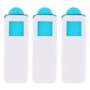 3 stuks universeel ultradun ontwerp rechthoek WebCam cover camera cover voor desktop  laptop  Tablet  telefoons (wit)