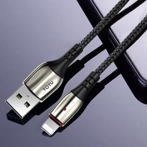 TOTU BL-002 Bright Sereis 3A USB naar 8-pins snelladende datasynchronisatiekabel  lengte: 1 8 m (zwart)