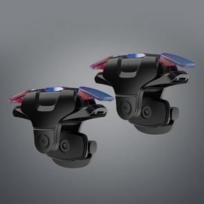 3rd Gen Eten Chicken Metal Kleurrijke Fysieke Hulpknop Shooting Game Controller  1 Paar (Zwart)