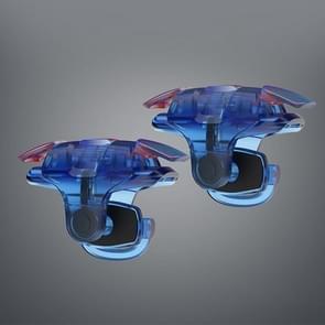3rd Gen Eten Chicken Metal Kleurrijke Fysieke Hulpknop Shooting Game Controller  1 Paar (Blauw)