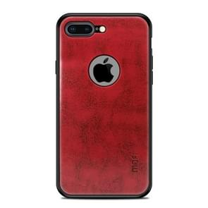 MOFI Shockproof PC+TPU+PU Lederen beschermhoes voor iPhone 8 Plus(Rood)