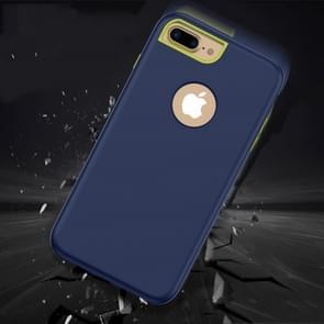 3 in 1 effen kleur combinatie Case voor iPhone 8 Plus & 7 Plus & 6 Plus(Navy Blue)