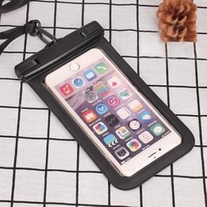 PVC transparante universele IPX8 waterdichte tas met Lanyard voor smartphones onder 6 3 inch (zwart)