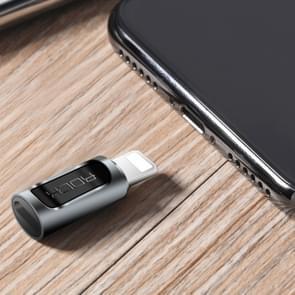 ROCK 2.1a draagbare Type-C tot 8 Pin Audio Converter oortelefoon Adapter voor iPhone X  iPhone 8 & 7  iPhone 8 & 7 Plus