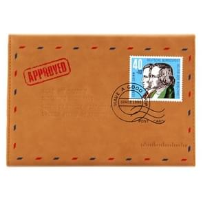 SWISH voor iPad 4 / 3 / 2 envelop stijl Deutsche Bundespost drie-vouwen lederen hoesje met houder