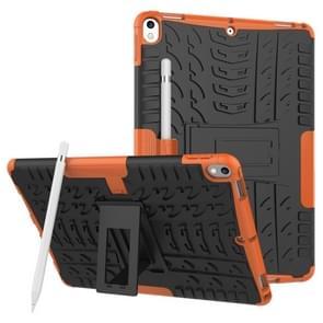 Band textuur TPU + PC schokbestendig geval voor iPad Air 2019/Pro 10 5 inch  met houder & Pensleuf (oranje)