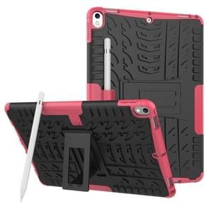 Band textuur TPU + PC schokbestendig geval voor iPad Air 2019/Pro 10 5 inch  met houder & pen sleuf (roze)