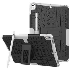 Band textuur TPU + PC schokbestendig geval voor iPad Air 2019/Pro 10 5 inch  met houder & pen slot (wit)