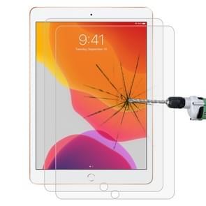 2 stuks voor iPad 10 2 inch 9H rechte rand explosieveilige gehard glas film