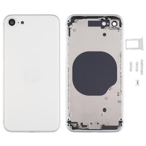 Battery Back Cover met Camera Lens Cover & SIM Card Tray & Side keys voor iPhone SE 2020(Zilver)