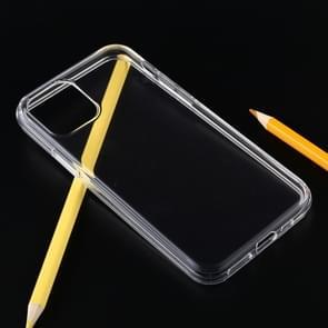 Schokbestendige effen kleur TPU beschermhoes voor iPhone 11 Pro Max (transparant)