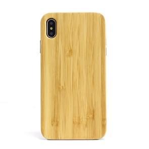 Schokbestendige TPU + hout volledige beschermhoes voor iPhone XS Max