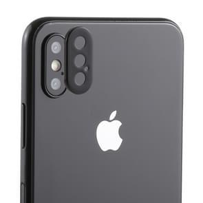 Rear Camera Lens bescherming Ring Bedek met lade Eject Tool naald voor iPhone XS Max (zwart)