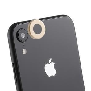 Achterzijde camera lens bescherming ring cover met eject PIN voor iPhone XR (goud)