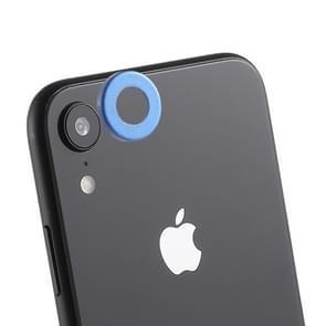 Achterzijde camera lens bescherming ring cover met uitwerp PIN voor iPhone XR (blauw)