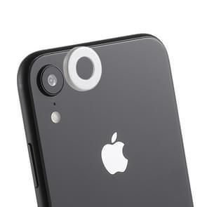 Achterzijde camera lens bescherming ring cover met eject PIN voor iPhone XR (zilver)