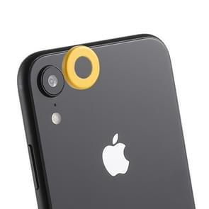 Achterzijde camera lens bescherming ring cover met uitwerp PIN voor iPhone XR (geel)