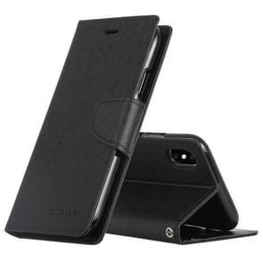 MERCURY GOOSPERY FANCY dagboek horizontale Flip lederen hoes voor iPhone XS / X  met houder & kaartsleuven & Wallet(Black)