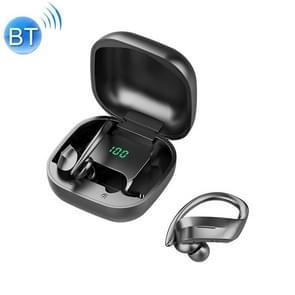 258 Draadloze Bluetooth-oortelefoon met oplaadbox & digitaal display  ondersteuning Touch & HD Call & Voice Assistant & NFC (Zwart)